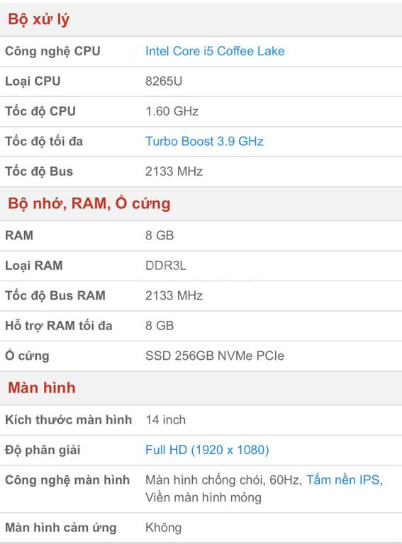 Asus Zenbook UX433FA i5/8GB/256GB/Win10