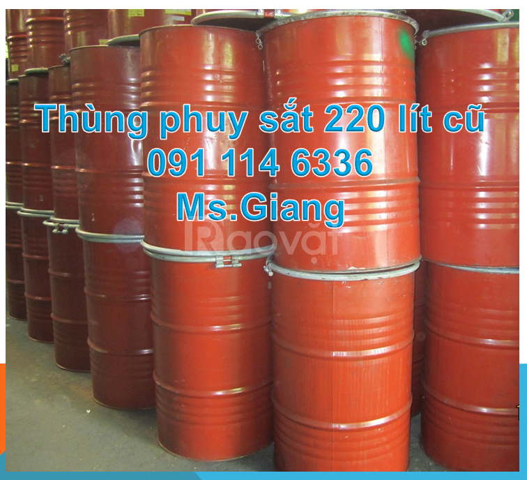 Cung cấp thùng phuy nhựa 220 lít, thùng phuy sắt 220 lít