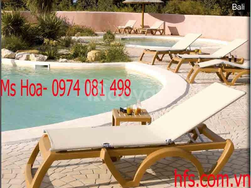 Ghế nhựa tắm nắng, ghế bể bơi, ghế hồ bơi (ảnh 3)