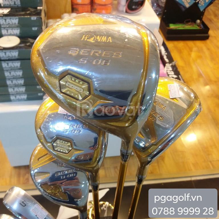 Bộ gậy golf Honma S-06 4 sao mạ vàng 24k, hàng đang có sẵn.