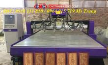 Máy cnc đục gỗ, máy khắc gỗ CNC 6 đầu