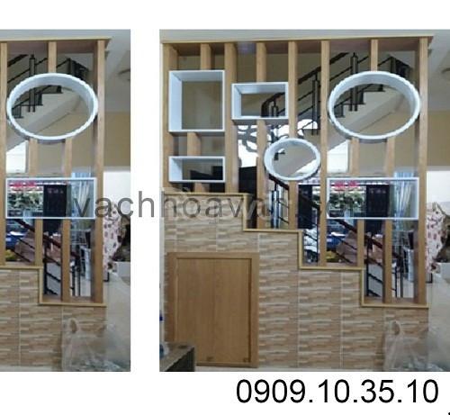 Tổng hợp các lam gỗ ngăn phòng khách và phòng bếp đẹp