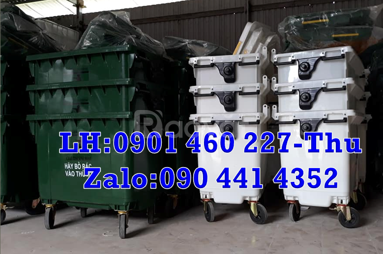 Xe thu gom rác 1000 lít, thùng đựng rác 660 lít bán xe đẩy rác 660 lít