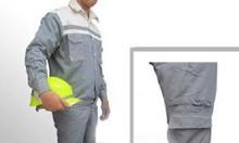 Bán quần áo bảo hộ lao động vải bạt dày chống cháy màu ghi