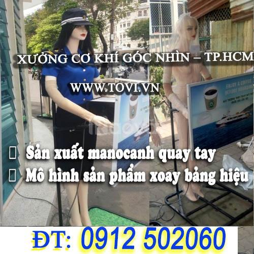 Manocanh robot xoay bảng hiệu quảng cáo - tại TPHCM (ảnh 1)