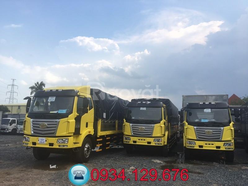 Xe tải Faw 7.25 tấn/7T25 thùng dài 9m7 chở nệm, pallet