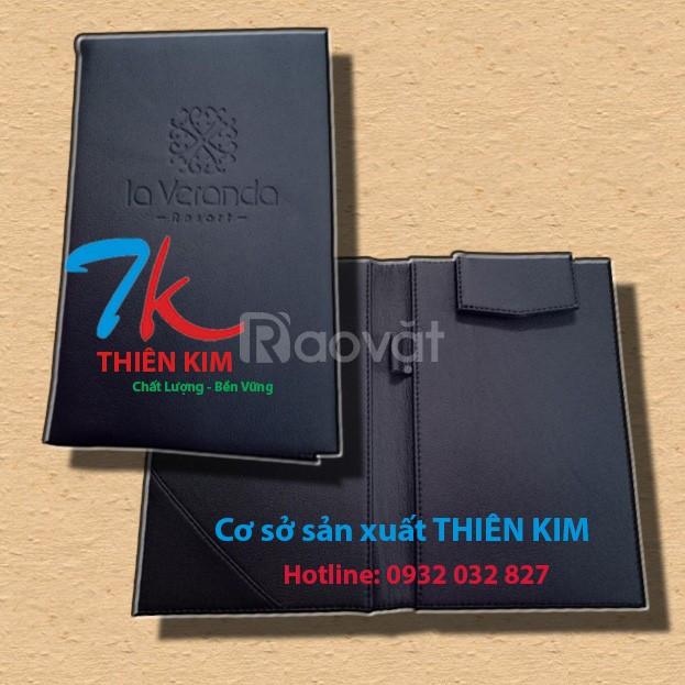 Trực tiếp sản xuất bìa kẹp tiền, bìa kẹp tiền da simili, tab tính tiền