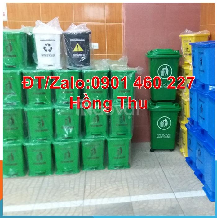Thùng rác y tế màu xanh 20 lít, thùng rác y tế 15l màu vàng đạp chân