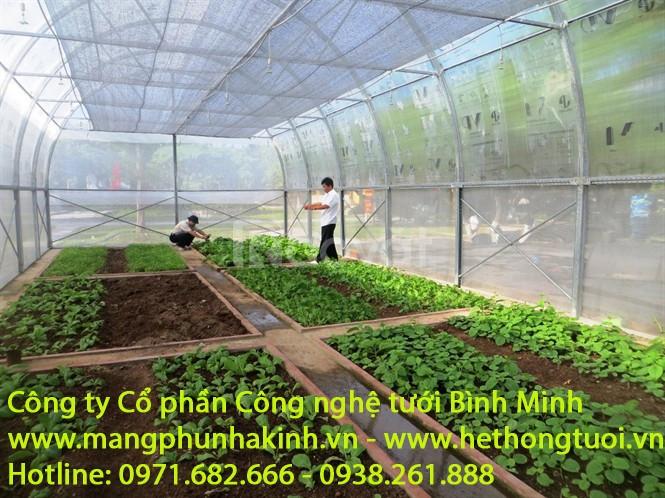 Màng phủ nhà kính, nhà kính trồng rau, nhà kính trồng hoa