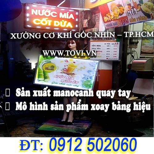 Manocanh robot xoay bảng hiệu quảng cáo - tại TPHCM (ảnh 7)