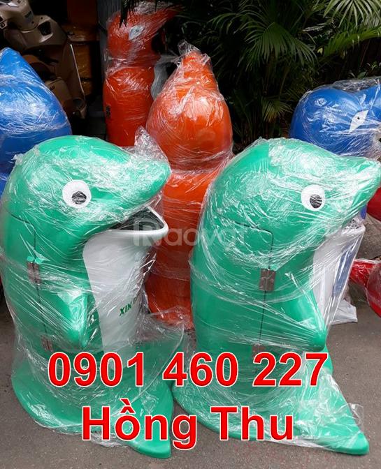 Thùng rác con cá chép, thùng đựng rác con chuột túi thùng rác gấu trúc