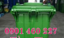 Bán thùng rác 240 lít, 120 lít màu vàng