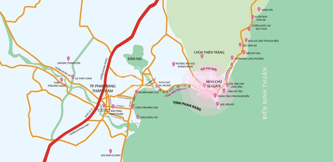 Đất nền Ninh Chữ Seagate Ninh Thuận, thổ cư 100%, đã có sổ đỏ riêng,..
