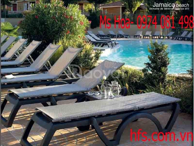 Ghế nhựa tắm nắng, ghế bể bơi, ghế hồ bơi (ảnh 4)