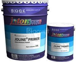 Bán sơn kẻ vạch dẻo nhiệt joton joline 20% phản quang màu vàng ở Lagi