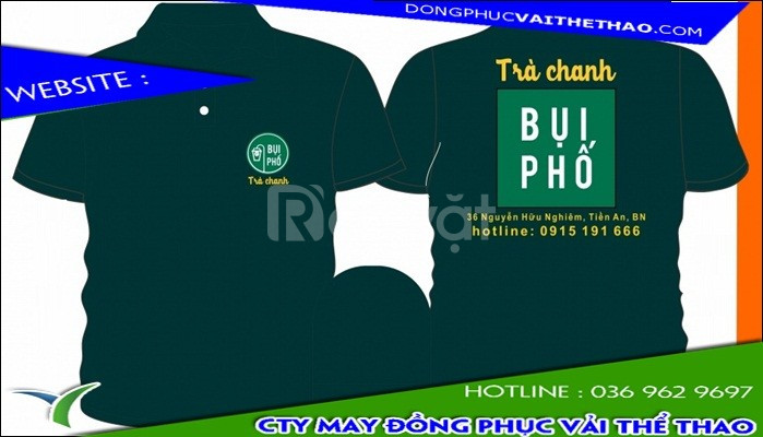 May áo thun đồng phục cao cấp cho quán trà chanh