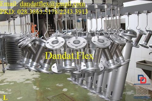 Thiết bị điện CN: ống ruột gà lõi thép dn25, khớp nối mềm inox dn65 (ảnh 3)