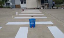 Bán sơn kẻ vạch cadin màu trắng cho lối đi nhà xưởng ở Ninh Thuận