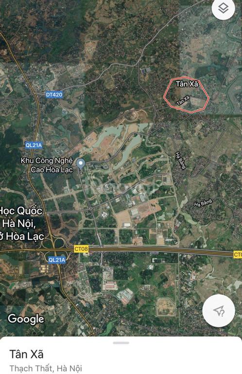 Đất nền Hòa Lạc cách CNC Hòa Lạc 500m mà chỉ 700tr/lô, sổ đỏ trao tay.