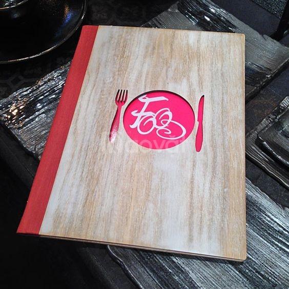 Nhận sản xuất bìa menu da, nơi sản xuất cuốn menu nhà hàng, cuốn menu