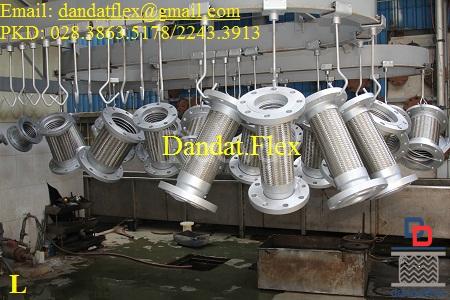 Thiết bị điện CN: ống ruột gà lõi thép dn25, khớp nối mềm inox dn65 (ảnh 4)