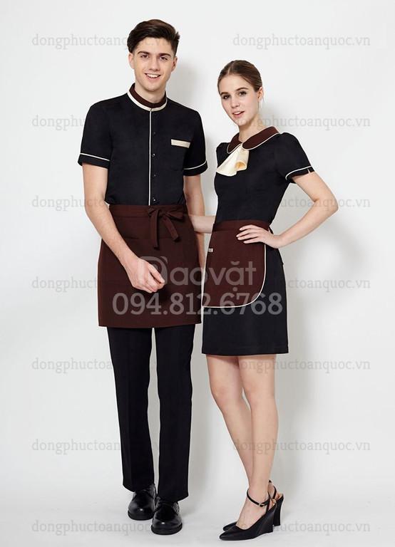 Xưởng may đồng phục nhân viên bồi bàn theo size chuẩn đẹp bạn