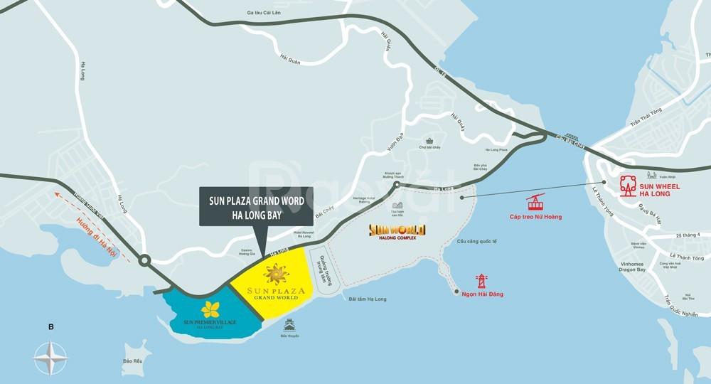 Ưu đãi lớn mùa Vu Lan khi mua Shophouse SunGroup Hạ Long,120m2x5Tầng
