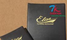Xưởng làm bìa menu nhà hàng, nơi làm bìa da quán ăn theo yêu cầu