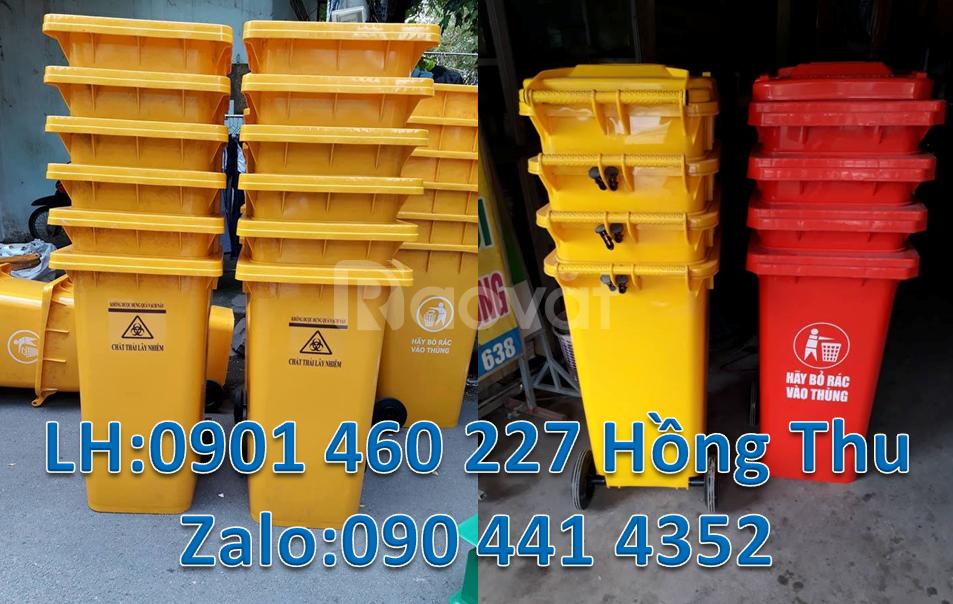 Thùng rác nhựa HDPE 240 lít,thùng rác 120 lít màu cam,thùng rác 240l