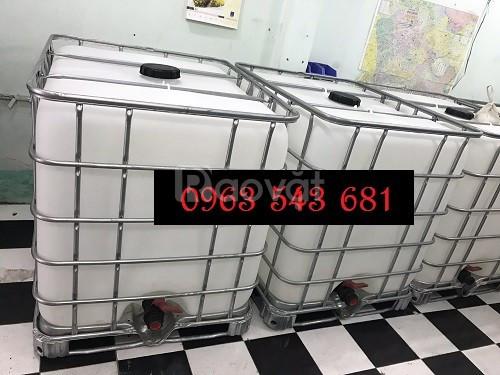 Cung cấp sỉ thùng nhựa IBC 1000 lít đựng thực phẩm, bồn nhựa IBC 1000l