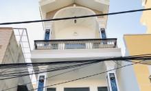 Nhà mới 1 trệt - 3 lầu, 4,3x20 đường ô tô giáp P.14 Quang Trung Gò Vấp