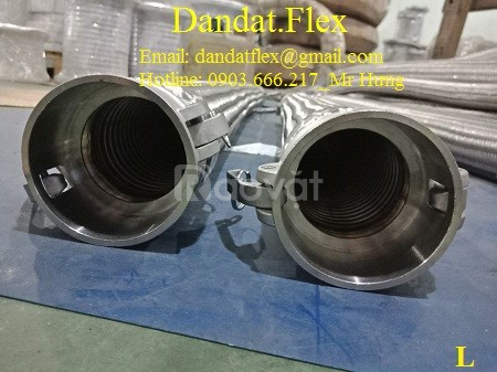 Ống mềm inox lắp ren, ống chống rung inox - khớp nối mềm inox nối ren