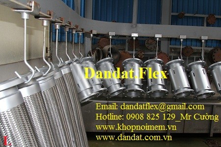 Khớp nối mềm inox 304 lắp bích, ống chống rung inox 304