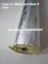 Ống Rockwool định hình, bọc cách nhiệt đường ống hơi nóng 450 độ C