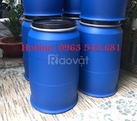 Bán thùng phuy nhựa 220 lít, thùng nhựa 220 lít, bồn nhựa 220 lít