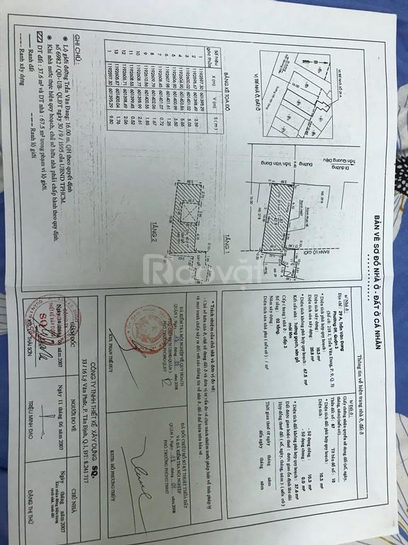 Cần bán nhà mặt tiền đường Trần Văn Đang , Quận 3 , HCM , giá tốt