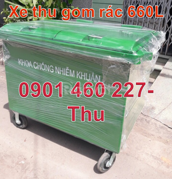 Xe thu gom rác giá rẻ,bán xe thu gom rác 660 lít,xe thu gom rác 1000l