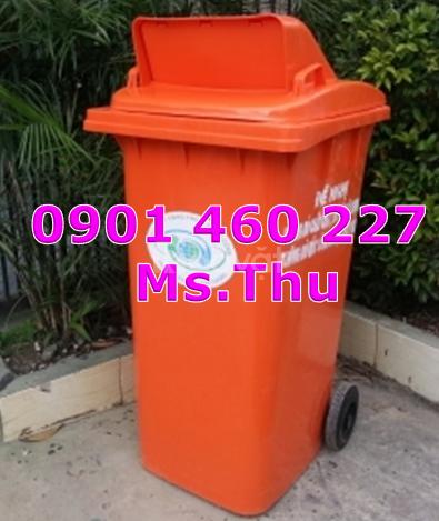 Thùng rác nhựa 240l ,thùng rác 120 lít nắp hở giá bao nhiêu