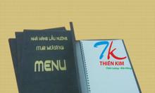 Xưởng làm bìa menu da, bìa đựng thực đơn, bìa menu bắt vít