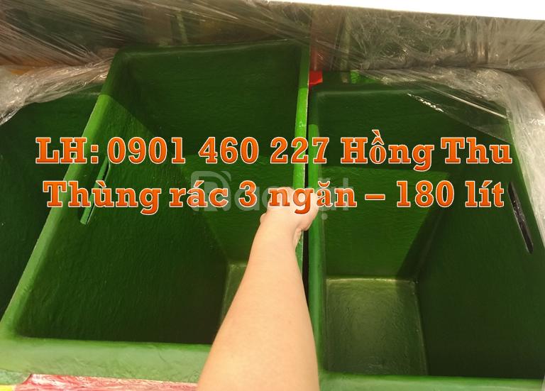 Thùng rác nhựa 2 ngăn thùng đựng rác 3 ngăn giá rẻ giá thùng rác