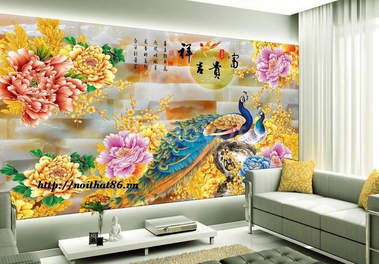 Tranh phòng khách, gạch tranh 3d trang trí