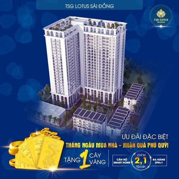 Chỉ 700 triệu đồng vào HDMB trực tiếp với CĐT dự án TSG Lotus Sài Đồng