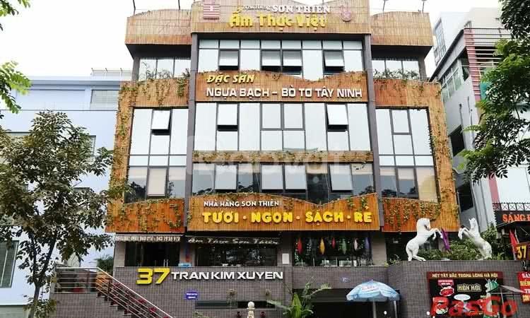 Nhà 250m2 x 5 tầng ở mp Trần Kim Xuyến x Trung Hòa mặt tiền 15 met