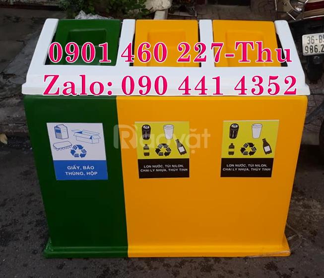 Thùng rác 2 ngăn,thùng rác 3 ngăn giá rẻ,giá thùng đựng rác 2 ngăn