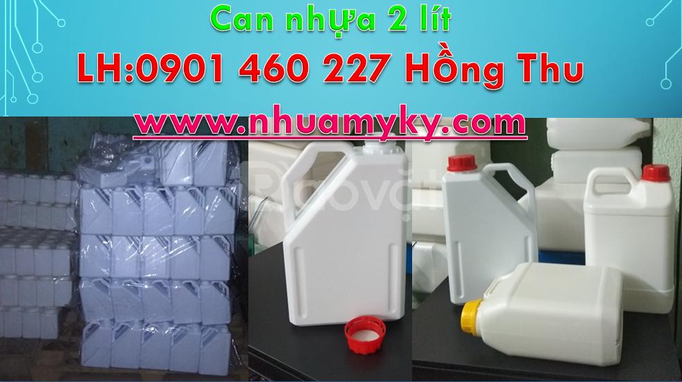 Can nhựa 2 lít, can nhựa 2 lít giá rẻ, can 2 lít đựng hoá chất