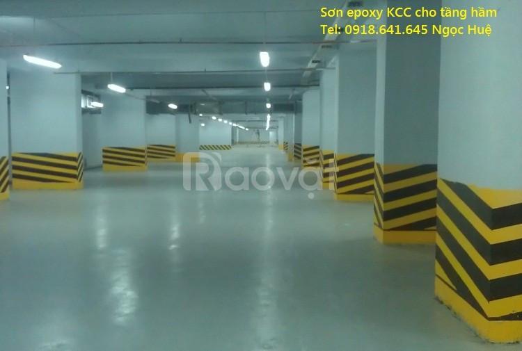 Thi công sơn sàn nhà xưởng hệ lăn ET5660 D40434 Green giá rẻ Long An