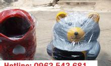 Thùng rác chim cánh cụt, thùng rác hình con vật, thùng rác công cộng