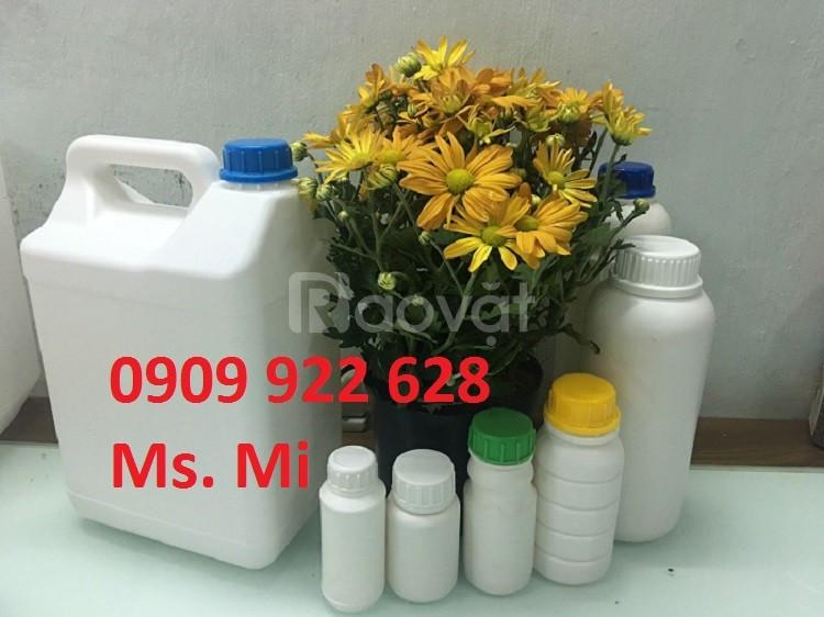 Hủ tròn 250ml, chai 250ml đựng hoá chất, chai nhựa HDPE 250ml