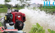 Máy bơm nước mini chạy xăng honda GX35 - máy bơm ao hồ đồng ruộng