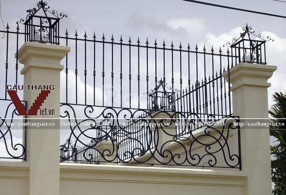 Hàng rào sắt mỹ thuật đẹp tại Hà Nội